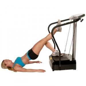 Piernas ejercicio plataforma vibratoria